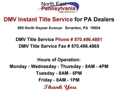 Auto Auction Pa >> North East Pennsylvania Auto Auction