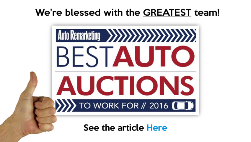 Best Place to work Auto Auction