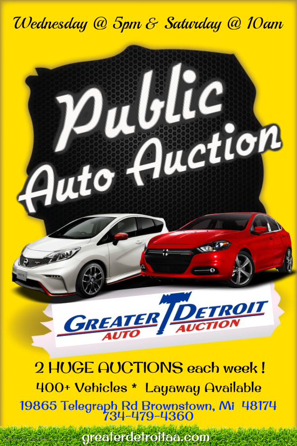 Public Auto Auction >> Greater Detroit Auto Auction